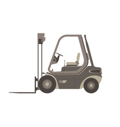 forklift icon truck lift isolated warehouse vector image