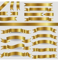 gold ribbons vector image