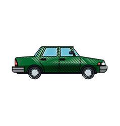 green sedan car vehicle transport image vector image