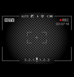 Rec camera viewfinder dark vector