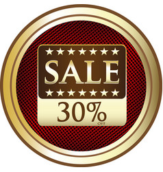 thirty percent sale icon vector image vector image
