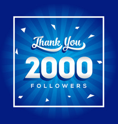 1000 thank you followers for media social design vector