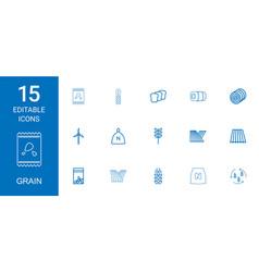 15 grain icons vector