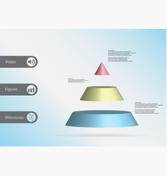 3d infographic template with triangle vector