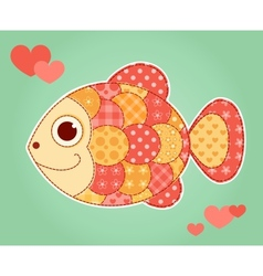 Application fish vector image