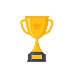 award cup icon trophy cup gold prize vector image