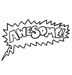 awesome1 black vector image