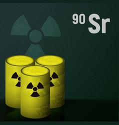 barrels of radioactive strontium vector image