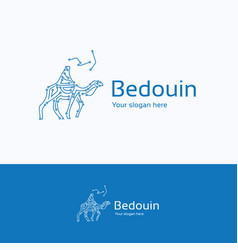 Bedouin on camel logo vector