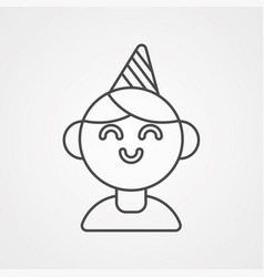 birthday boy icon sign symbol vector image