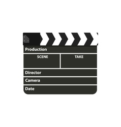 Black clapperboard Movie clapper board vector