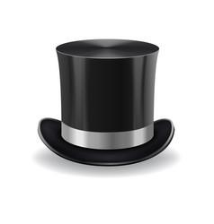 Black gentleman hat vector