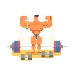 Bodybuilder character flat vector image