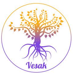 buddhist holiday - vesak vector image