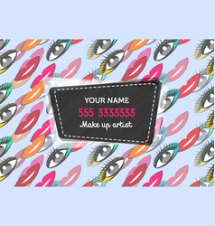 Business card for make up artist vector