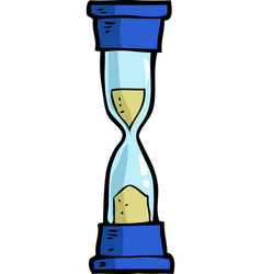 Cartoon doodle hourglass vector