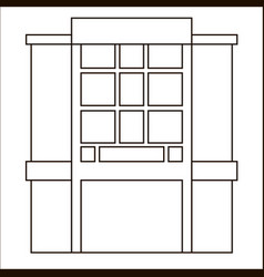 Cartoon flat stall and kiosk isolated on white vector
