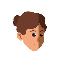 character face woman brunette design vector image
