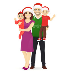 christmas family portrait vector image
