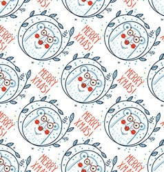 Christmas pattern with polar bears vector image