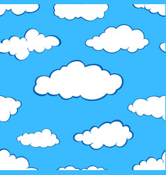 clouds seamless pattern set vector image