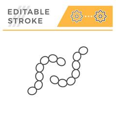 coli line icon vector image