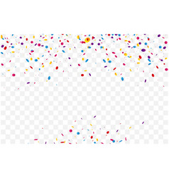 colorful confetti and celebrations ribbon vector image