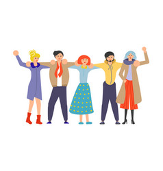 Concept of different people togetherness vector
