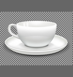 Cup and saucer mockup vector