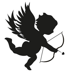 Cupid with bow vector