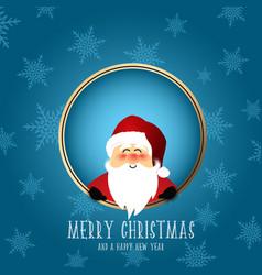 Cute santa christmas background vector
