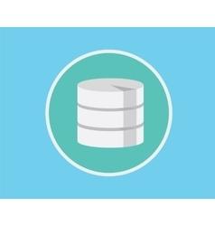 database flat vector image