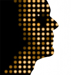 dot face vector image