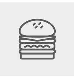 Double burger thin line icon vector image