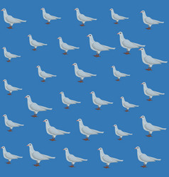 dove pattern background vector image