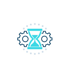 Efficiency time management icon vector