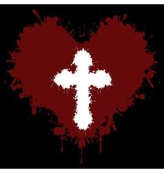 Faith in the heart vector image vector image