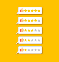 feedback concept five stars rating vector image