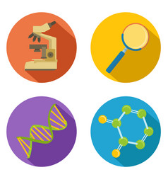 flat color chemical icon vector image