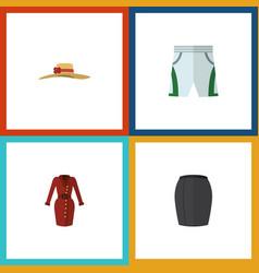 Flat icon garment set clothes trunks cloth vector