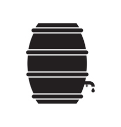 Flat icon in black and white beer keg vector