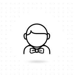 groom icon vector image