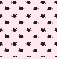Hand drawn cats seamless pattern vector