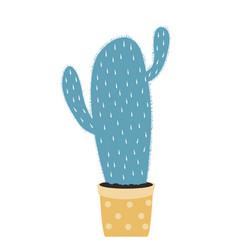 hand drawn kids cactus vector image