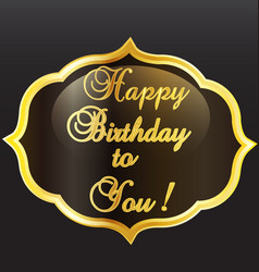 happy birthday vintage card vector image