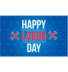 Happy labor day style collection vector