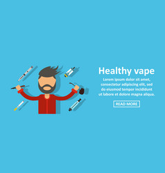 healthy vape banner horizontal concept vector image