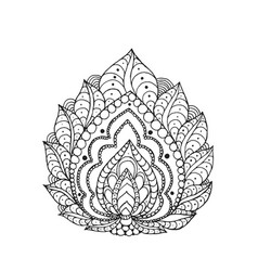 henna doodle paisley flower vector image
