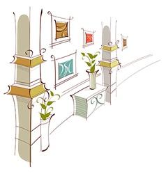 Home Hallway vector image