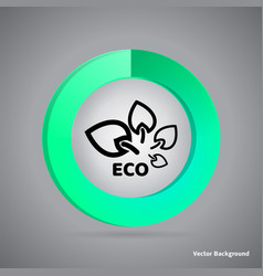 infographic eco design abstract business vector image